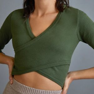NWT Anthro All Fenix Alice Crossover Cropped Top